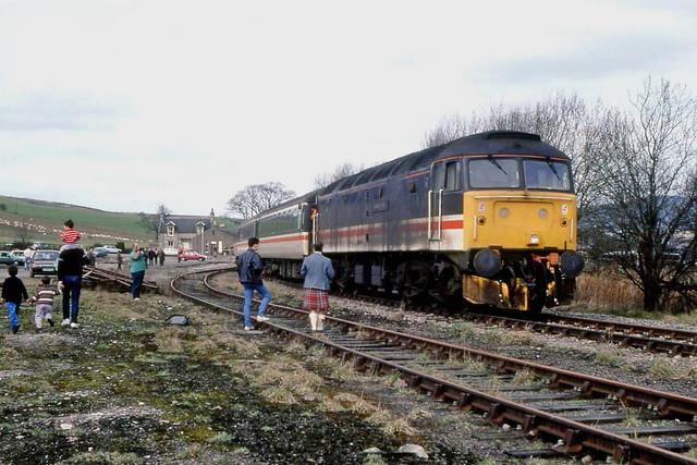 47617 at Dufftown, 1991