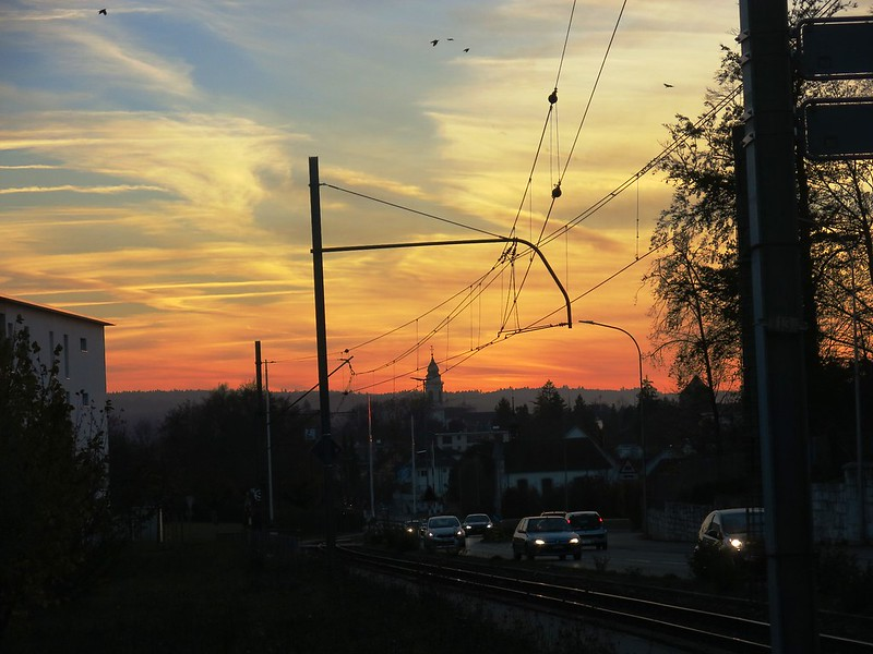 Sunset over Baselstrasse, solothurn