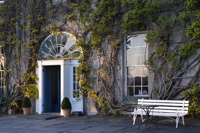 The front door of Ballymaloe House