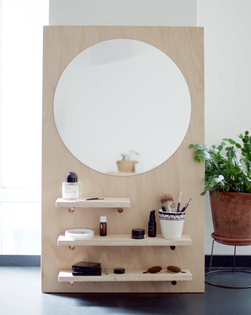 diy pine make up vanity a pair a spare. Black Bedroom Furniture Sets. Home Design Ideas