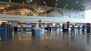 Ticket counters of PWM airport