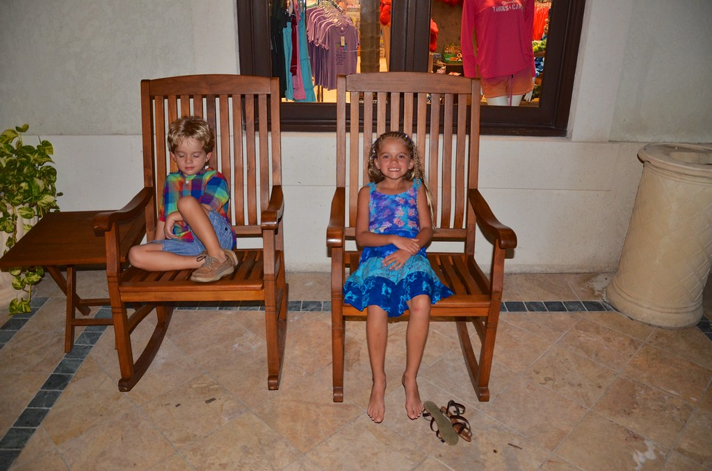 Astonishing The Kids In Rocking Chairs Outside The Resort Shop Flickr Ibusinesslaw Wood Chair Design Ideas Ibusinesslaworg