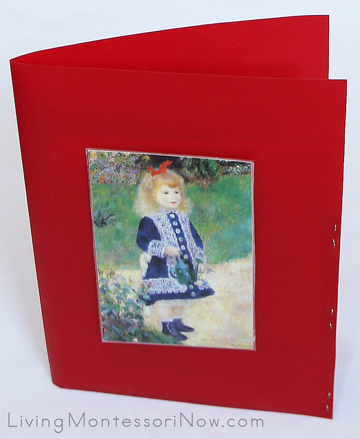Montessori Art Postcard Folder
