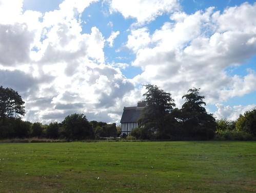 Glimpsed cottage Elm Farm