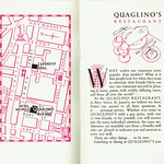 Tue, 2016-10-25 19:01 - Quaglino's is, of course, still with us in St James's, London - as an upmarket restaurant and bar. The company has its origins in 1929 when founded by Giovanni Quaglino and over the next few years it became highly fashionable - with a clientele list that included HM Quuen Elizabeth in the 1950s, thee time when this charming little booklet describing the various enterprises run by the company was produced. Printed at the Curwen Press it shows the attention to detail one would expect from them at this time.