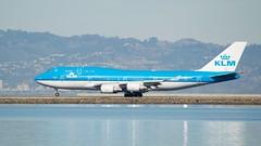KLM Boeing 747 -400 PH-BPG takeoff SFO runway 28 port profile DSC_0946