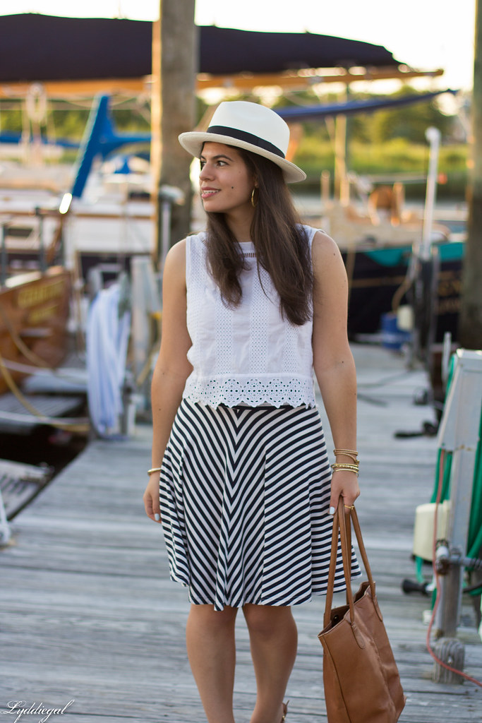 white eyelet lace crop top, striped skirt, panama hat-5.jpg