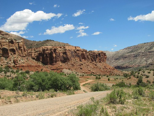 sky clouds rural colorado canyon erosion highdesert roads escalantecanyon