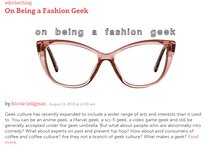 on being a fashion geek