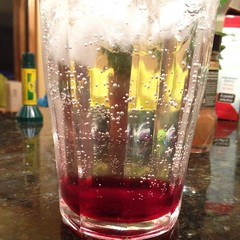 Love how my #drink stacked. #vodka #mommyslittlehelper #lingonberry #ikea #ikeafood