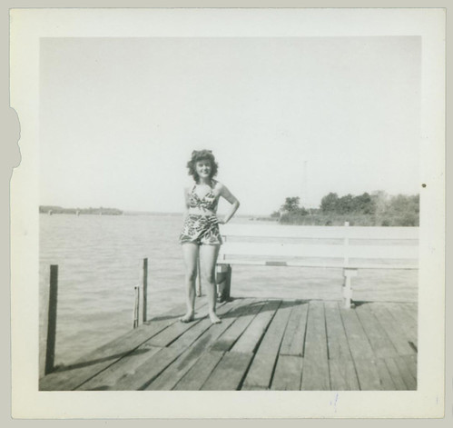 Girl on the dock.