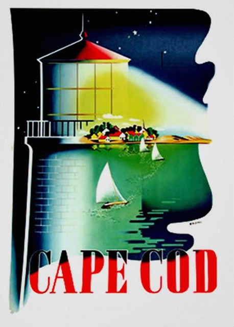 Cape Cod Massachusetts ~ Vintage Travel Ad Poster