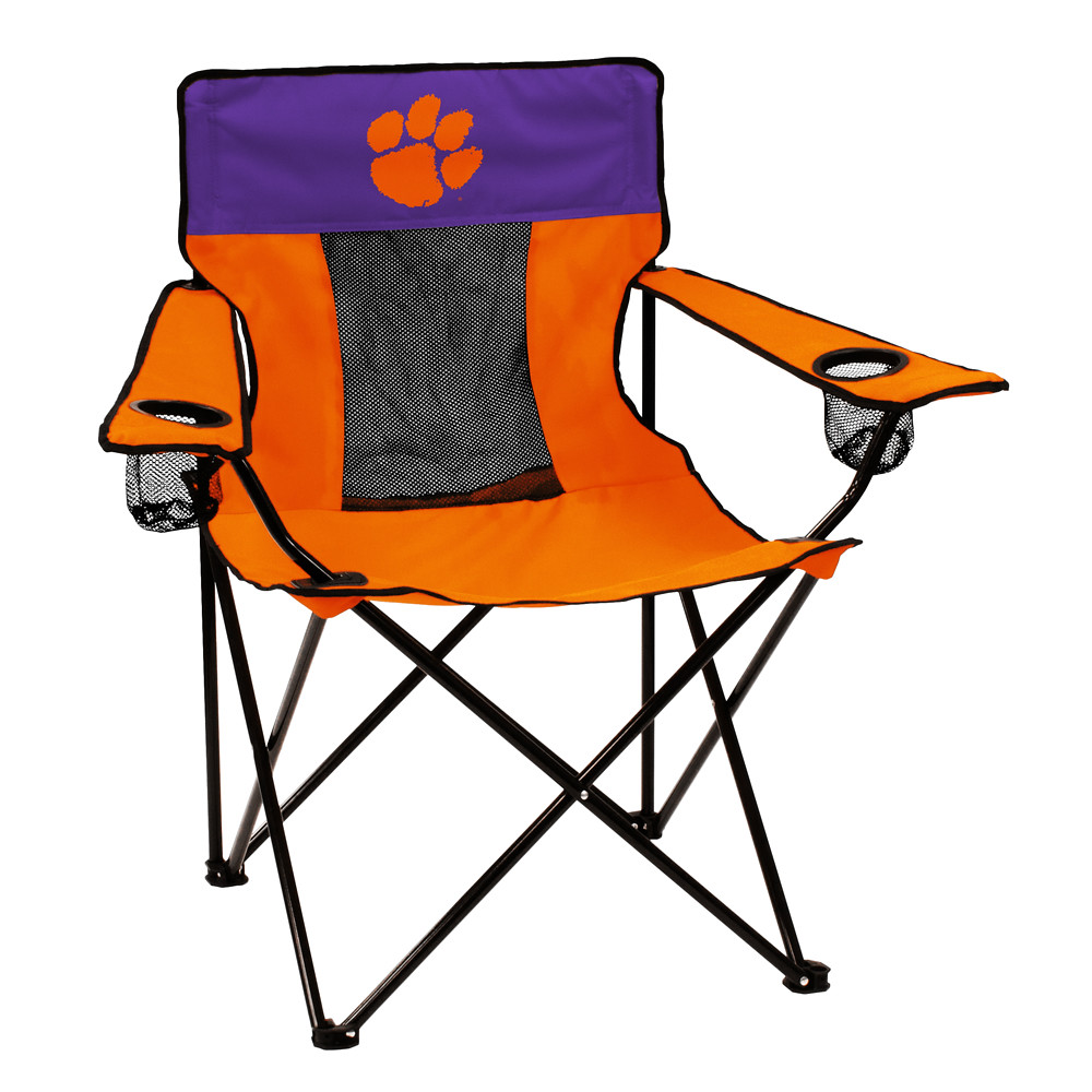clemson elite tailgate camping chair features ncaa sports team