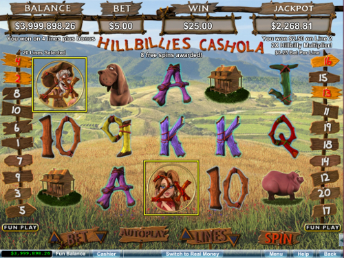 free Hillbillies Cashola slot free spins