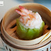 Steamed lobster and scallop dumpling