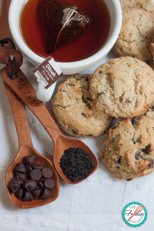 Tea Infused Chocolate Chip Cookies