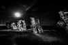 AMARILLO, TEXAS - April 2015: Famous art installation Cadillac Ranch at night by DigiDreamGrafix.com