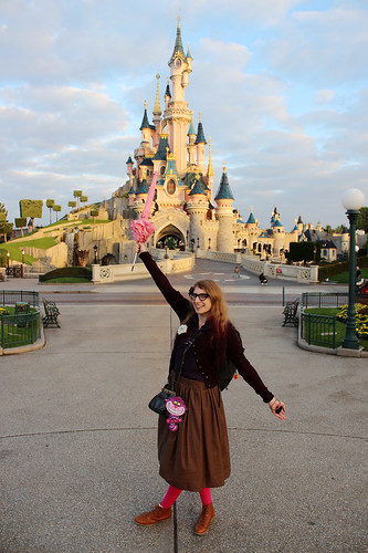 Me in front of Sleeping Beauty's Castle