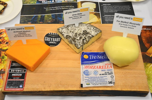 From left to right: Bothwell Medium Cheddar, Grey Baby, Tre Stelle® Mozarella