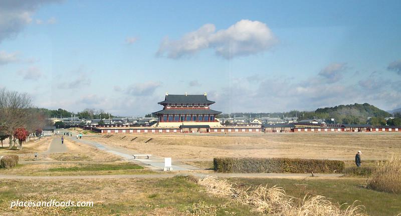Daigoku-den Hall, Heijo Palace Site nara mid shot