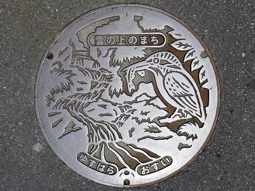 Yusuhara Kochi, manhole cover 2 (高知県梼原町のマンホール2)