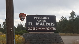 El Malpais NM - CLOSED FOR THE WINTER is why we have no more photos from this place