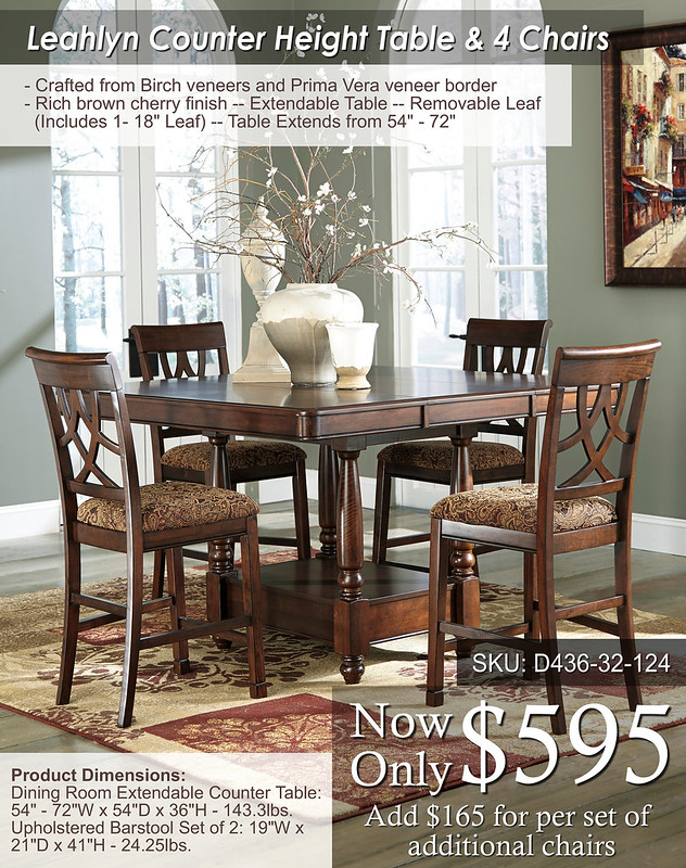 Leahlyn Counter Height Set