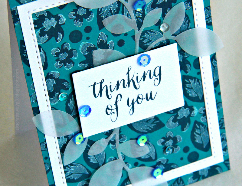 Thinking of you card clsoeup