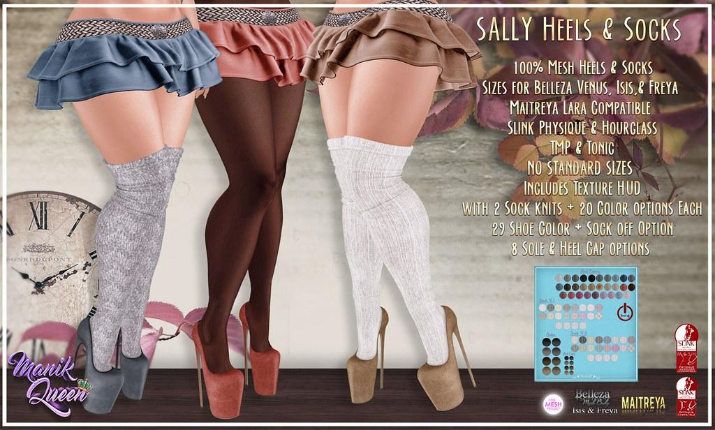 MANIK QUEEN - Sally Heels & Socks - SecondLifeHub.com