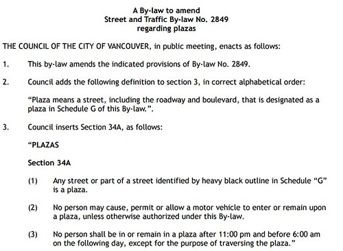Proposed Street and Traffic Bylaw Text