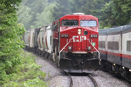 Canadian Pacific overtakes the Rocky Mountaineer