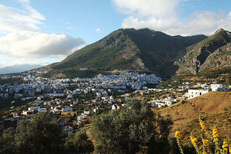 chefchaouen from the distance