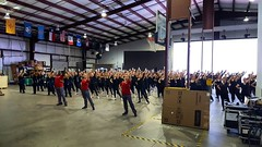 Good Morning...HTEDance Its a great day to practice the opening production number for the 2017 Tournament of Roses Parade! GO ROSES 250 STRONG! #HTEDance #HTEOnTour #GoRoses