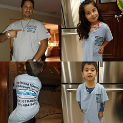 Beautiful family, everyone going to bed in there favorite companies gear... Thanks for the support - See you guys soon. #longisland #favorite #homeimprovement #contractors #stonecreationsoflongisland #masonry #brickwork #stonework #outdoorliving