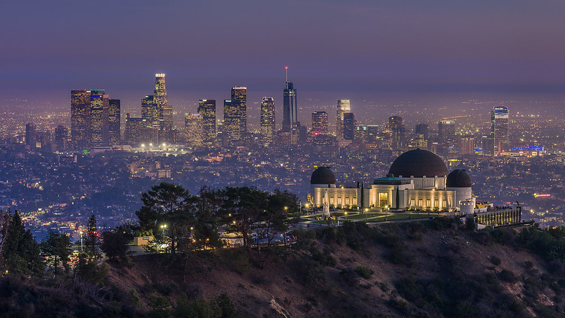 Griffith Observatory And DTLA Skyline