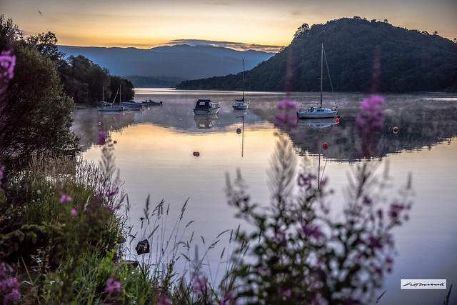 Soft, magical dawn light, Loch Lomond.