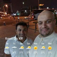 مع الصديق ابا فيصل/ زياد المشعان.