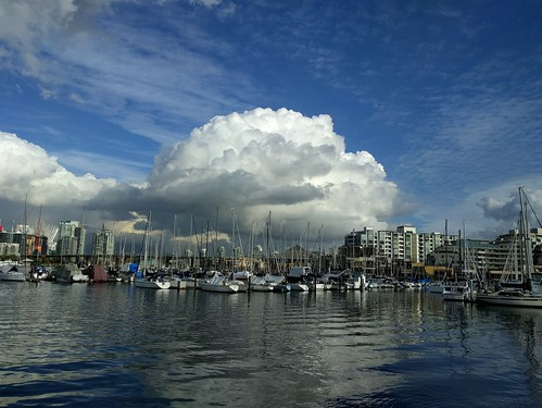 Cloud over the marina