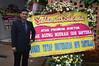 Karangan bunga dari para dosen di Universitas Mpu Tantular