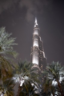 Burj Khalifa with Palm Trees