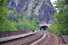 Train Tracks At Harpers Ferry