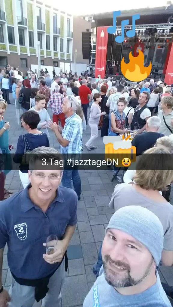 #snapchat Geschichte #jazztageDN Tag 3