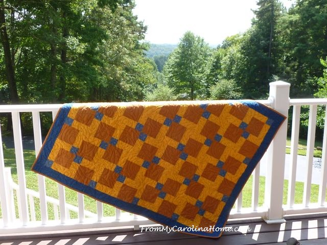 Boys Quilt finish 4