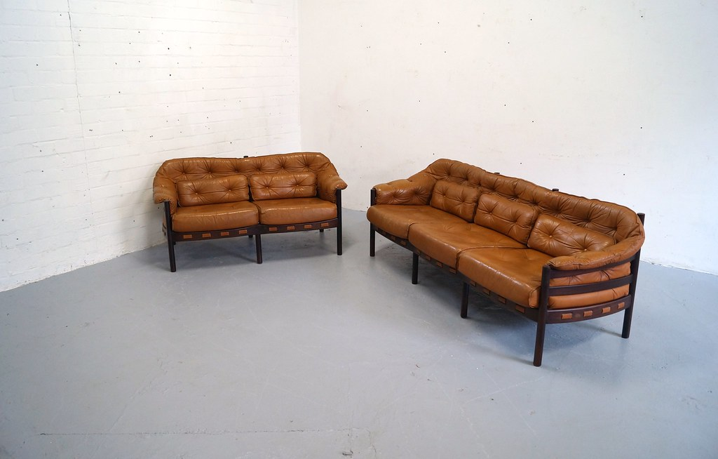 Vintage arne norell bank sofa jaren bankstel deens du flickr