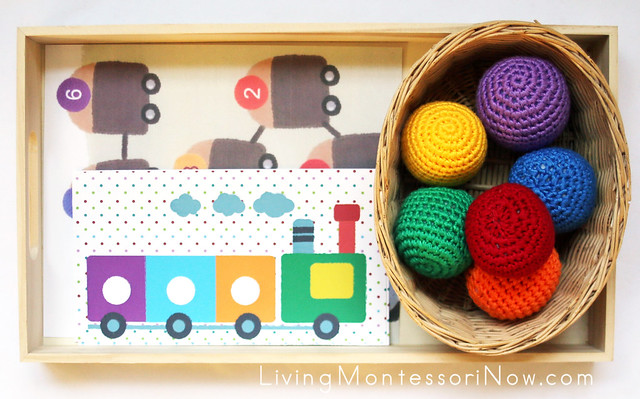 Color Matching with Trains and Yarn Balls