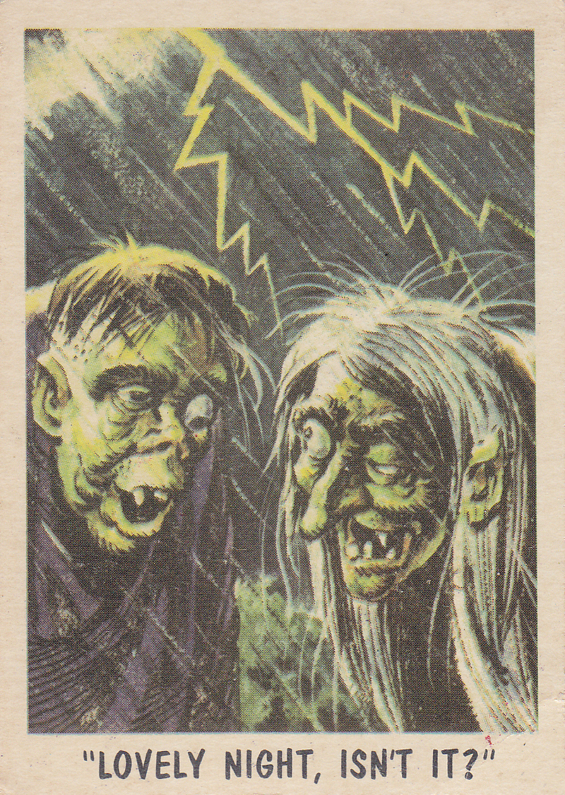 """You'll Die Laughing"" Topps trading cards 1959,  illustrated by Jack Davis (38)"
