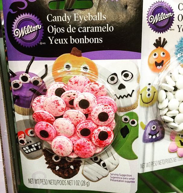 Why not bloody eyeball cupcake decorations? 👻