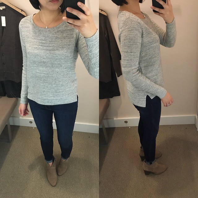 LOFT Marled Hi-Lo Sweater, size XS regular