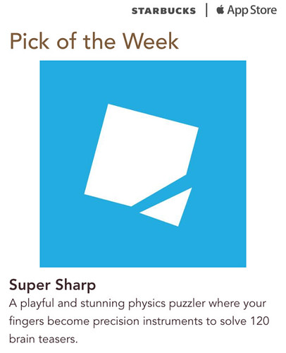 Starbucks iTunes Pick of the Week - Super Sharp