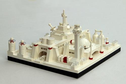 Flugscheiben Spaceport, Lego Microscale
